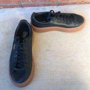 Puma basket euphoria gum platform leather sneaker
